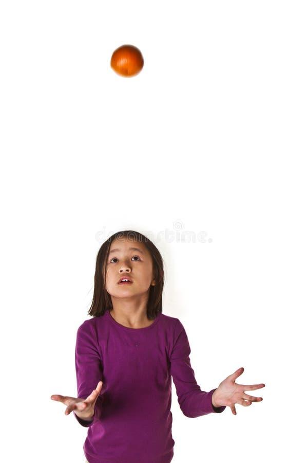 Девушка на изолированной предпосылке стоковые изображения rf