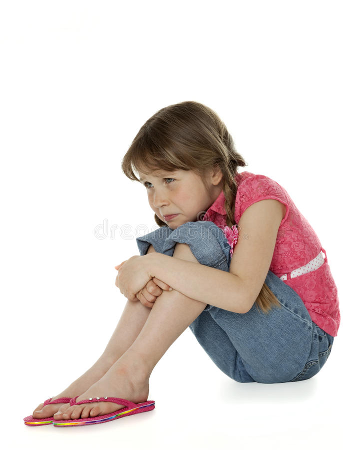 девушка немногая унылая белизна стоковое изображение