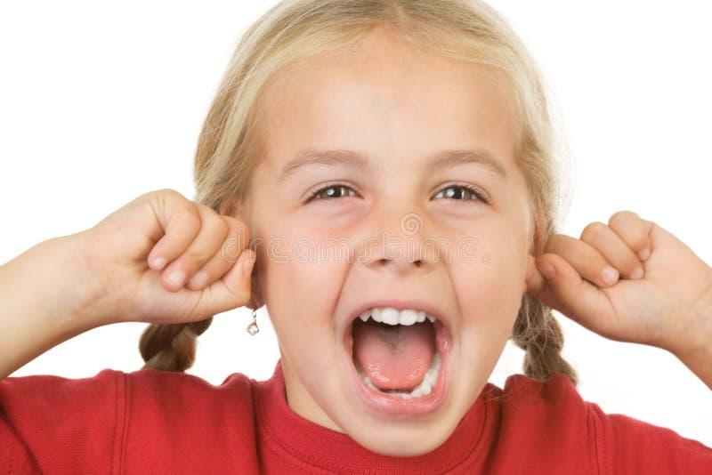 девушка немногая screaming стоковые изображения