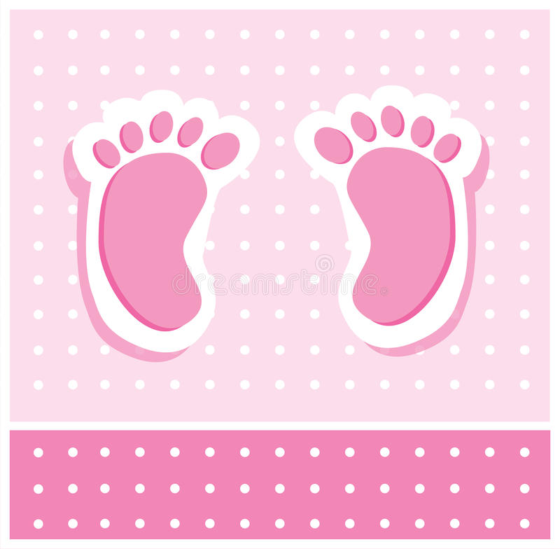 девушка ног младенца иллюстрация штока