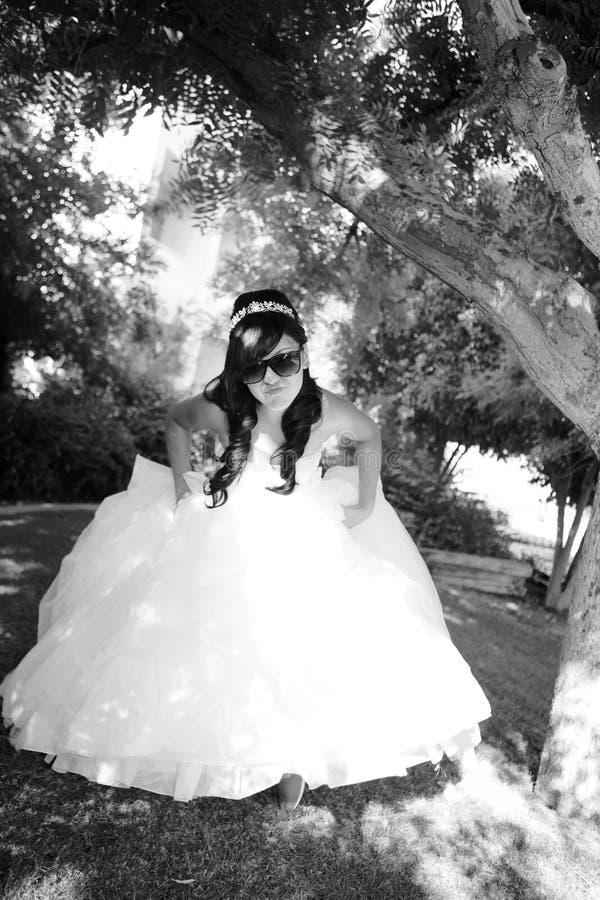 Девушка дня рождения Quinceanera стоковое фото