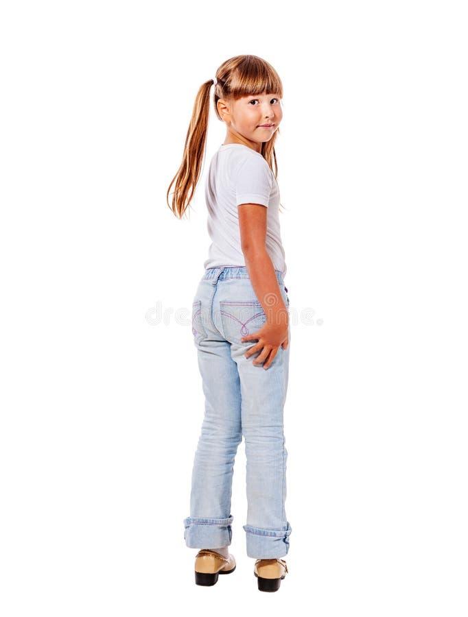 Девушка поворачивает назад стоковая фотография rf