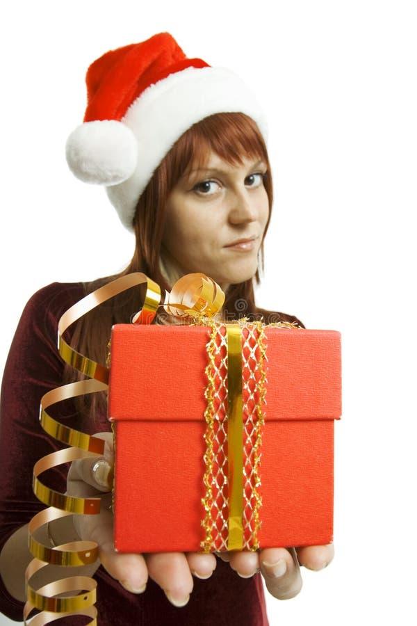 девушка подарка представляет стоковая фотография