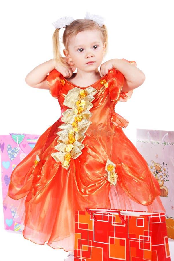 девушка подарков стоковое изображение