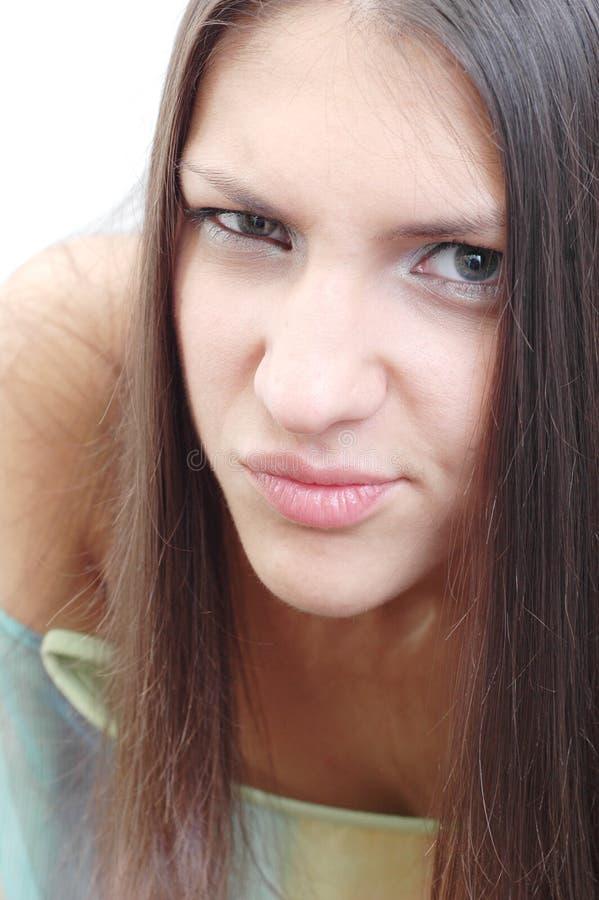 девушка подозрительная стоковое изображение