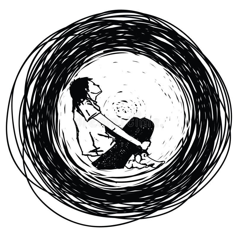 девушка подростковая иллюстрация штока