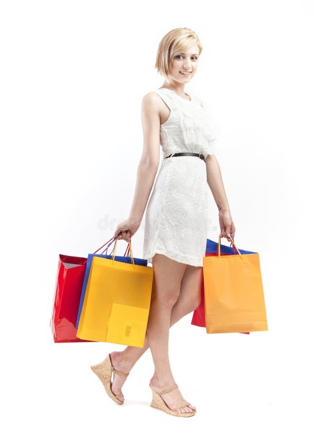 Девушка покупкы стоковые фотографии rf