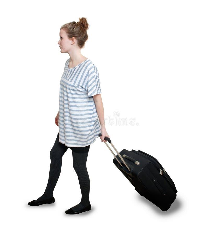девушка портфеля стоковая фотография rf