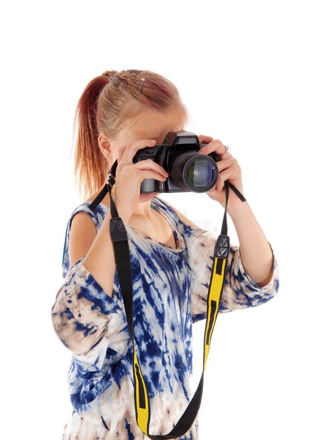 Девушка подростка укрепляя изображения стоковые изображения rf