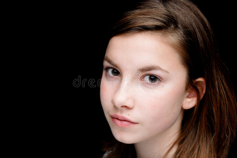 девушка предпосылки черная стоковое изображение