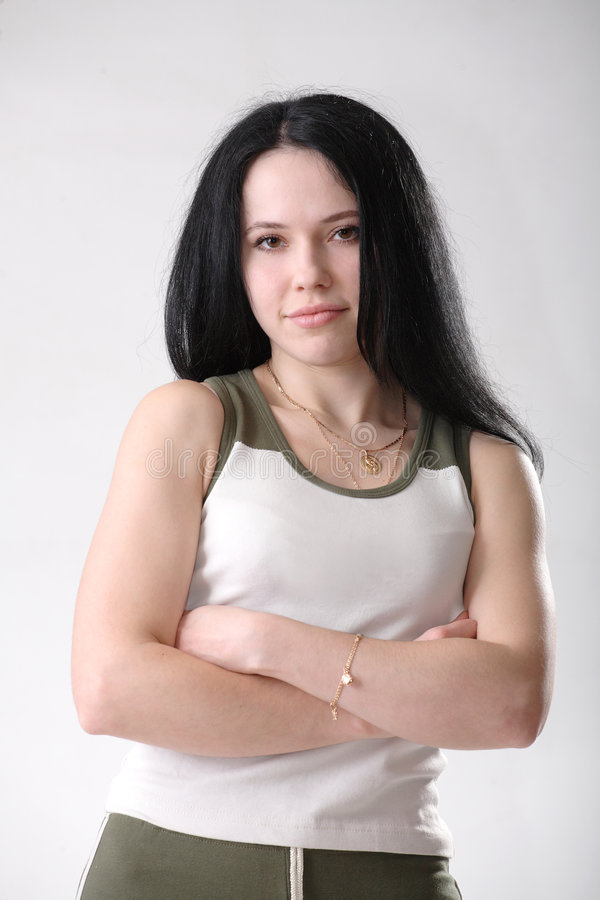 девушка пригодности стоковая фотография rf