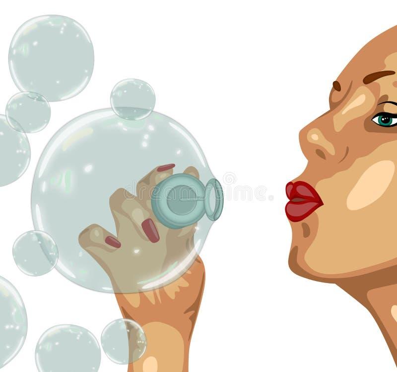 девушка пузыря стоковое изображение