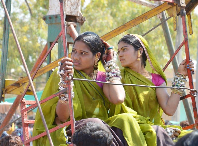 Девушка племени Bhil стоковое изображение