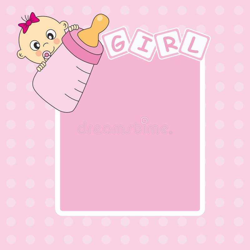 девушка рамки младенца иллюстрация вектора