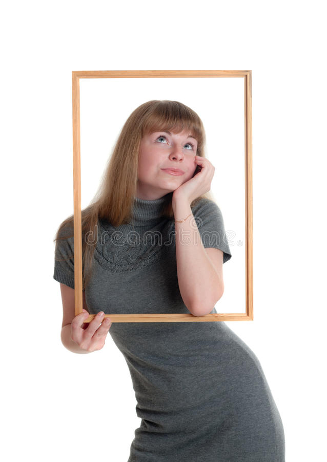 девушка рамки стоковое фото