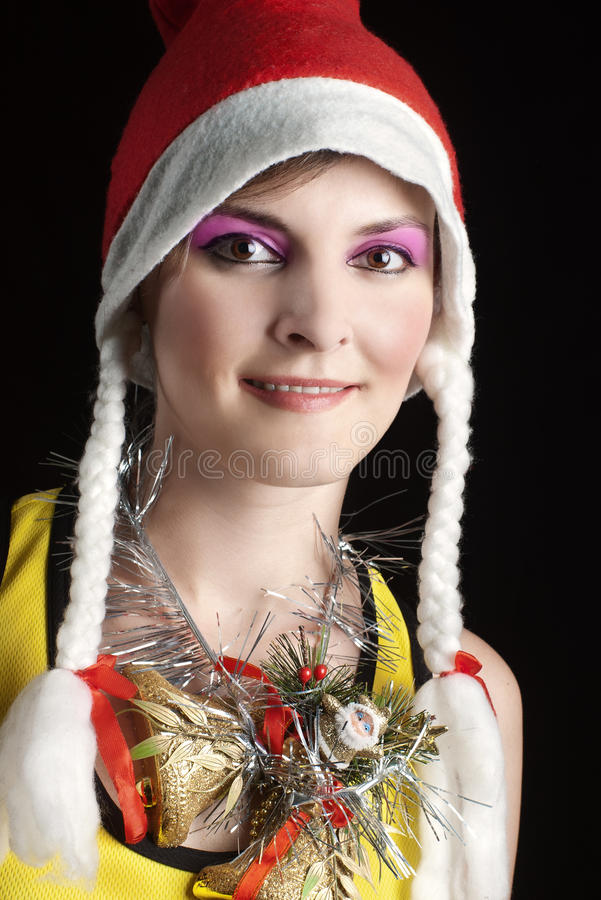 девушка рождества стоковое изображение