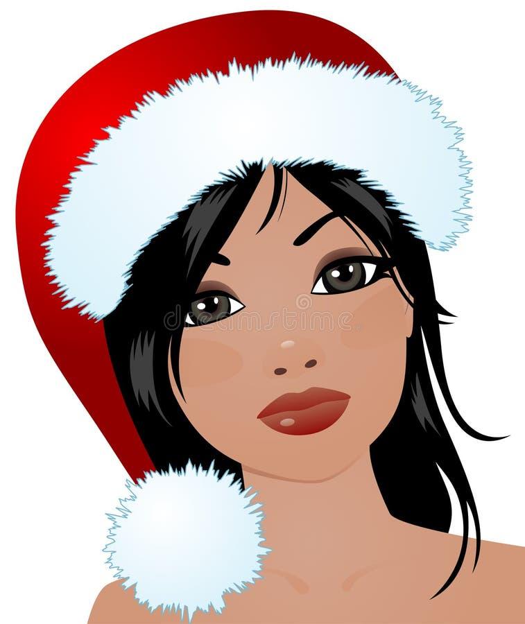 девушка рождества иллюстрация вектора