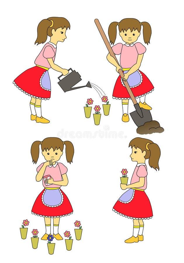 Девушка садовника стоковое фото