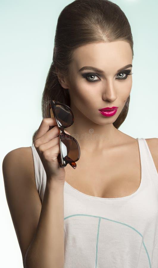 Девушка сексуальной моды вскользь стоковое изображение rf
