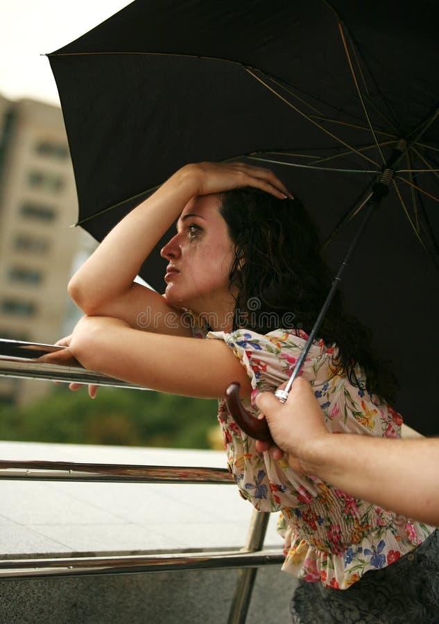 девушка сиротливая стоковая фотография rf