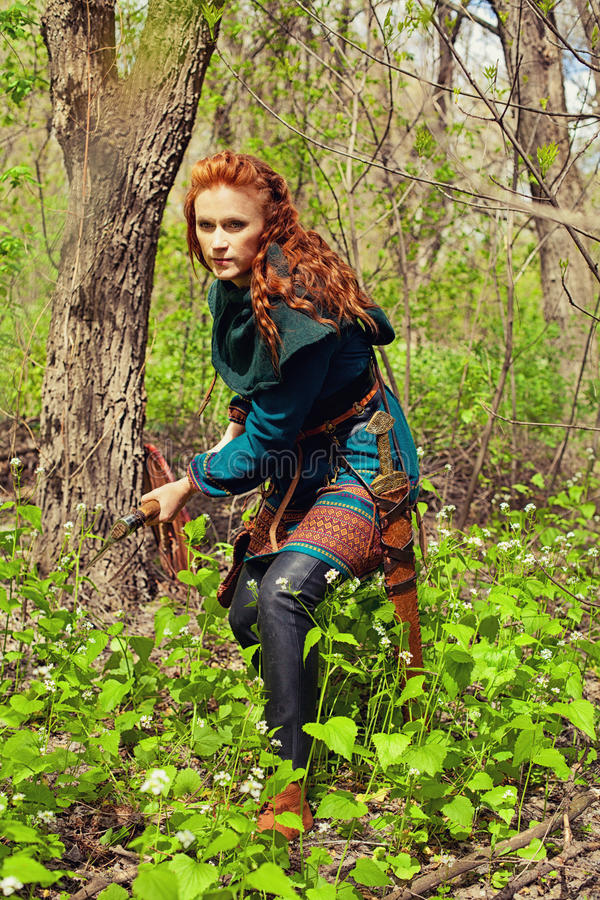 Девушка скандинава Redhead стоковая фотография rf
