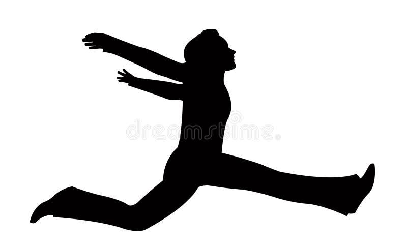 девушка скачет вектор иллюстрация штока