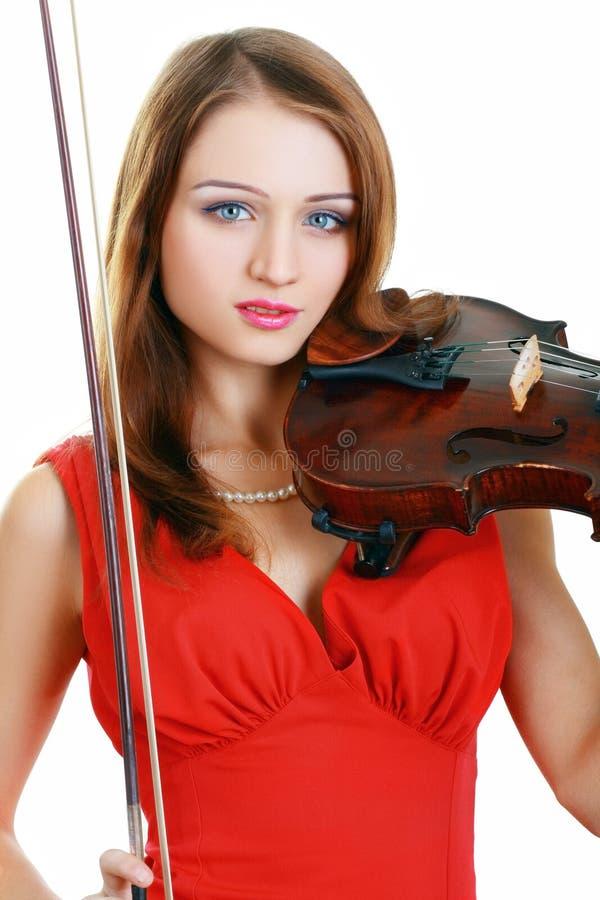 Девушка скрипача стоковые фотографии rf