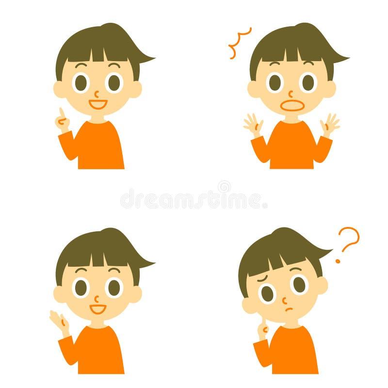 Девушка, смущенный говорить, удивленный, иллюстрация вектора
