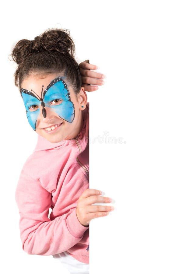 Девушка со сторон-краской стоковая фотография