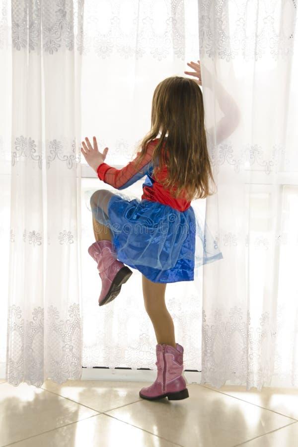 Девушка спайдера стоковое изображение rf