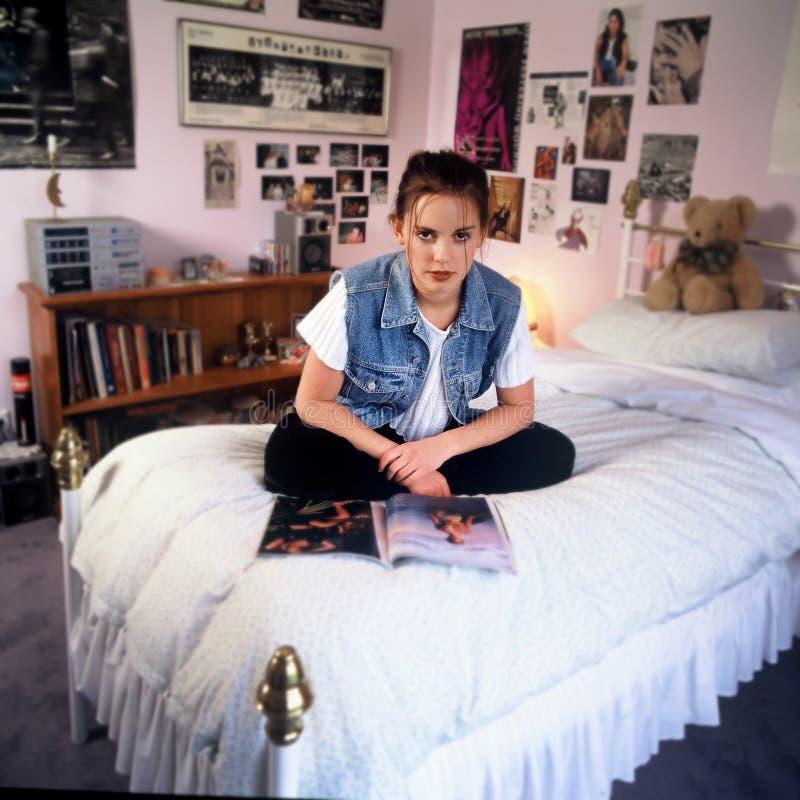 девушка спальни стоковое изображение rf