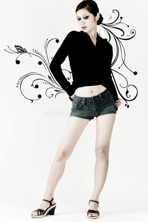 девушка стильная стоковое фото