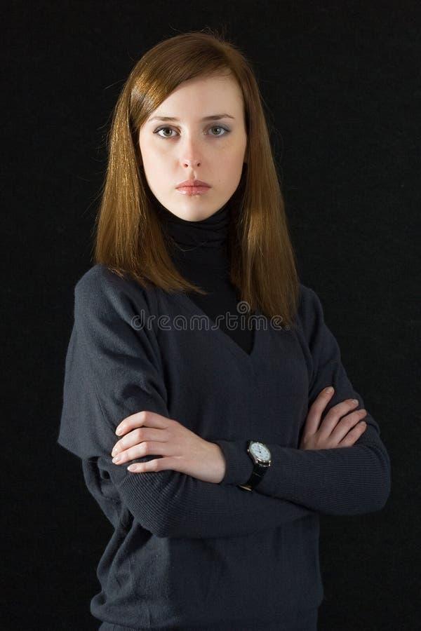 девушка стороны полная стоковое изображение rf