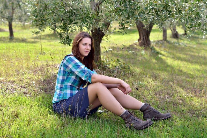Девушка страны стоковая фотография