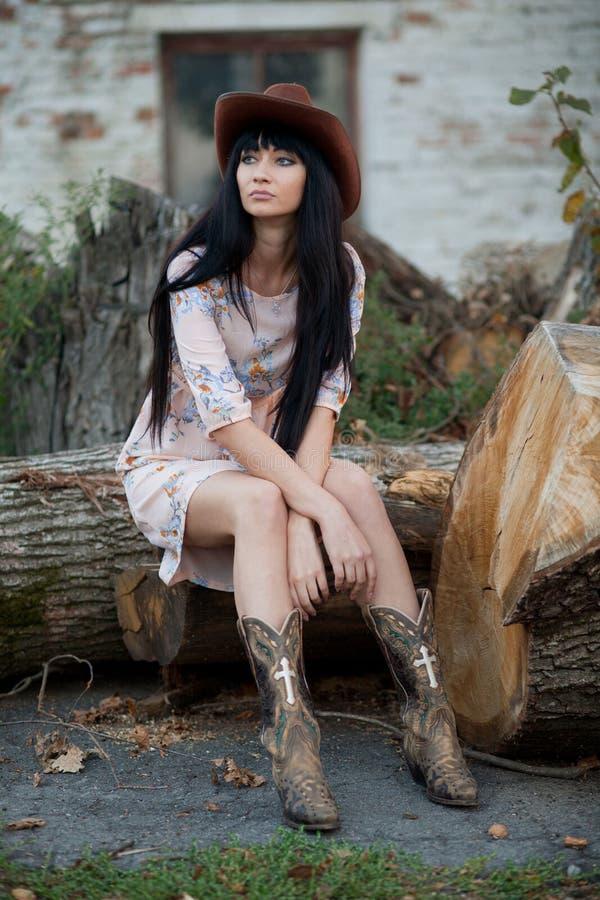 Девушка страны стоковые фото