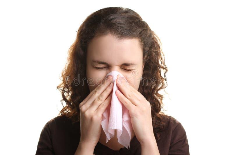 Девушка с жидким носом стоковое фото