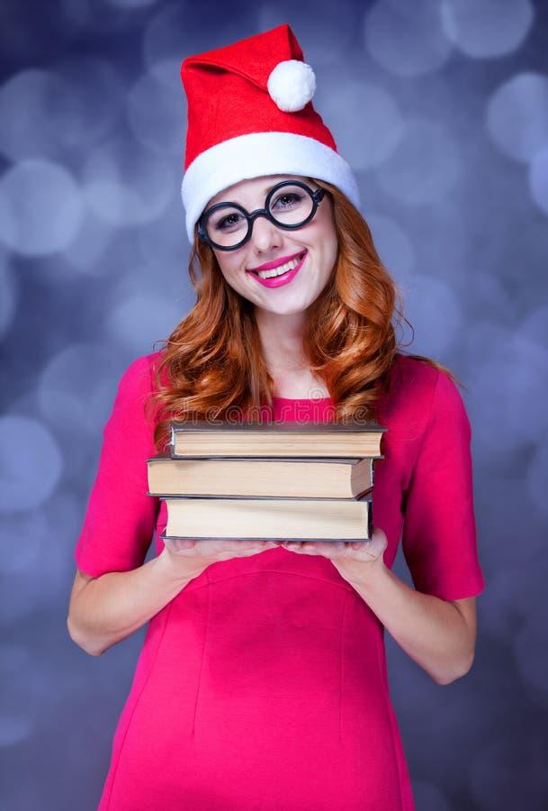 Девушка с книгами стоковая фотография