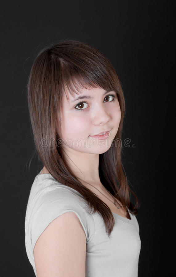 Девушка с коричневыми глазами стоковые изображения