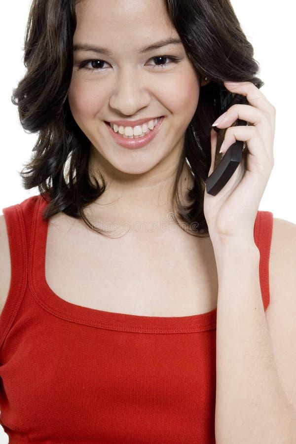 Девушка с телефоном стоковые фото