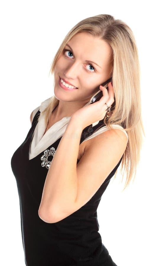 Девушка с телефоном. стоковое фото rf