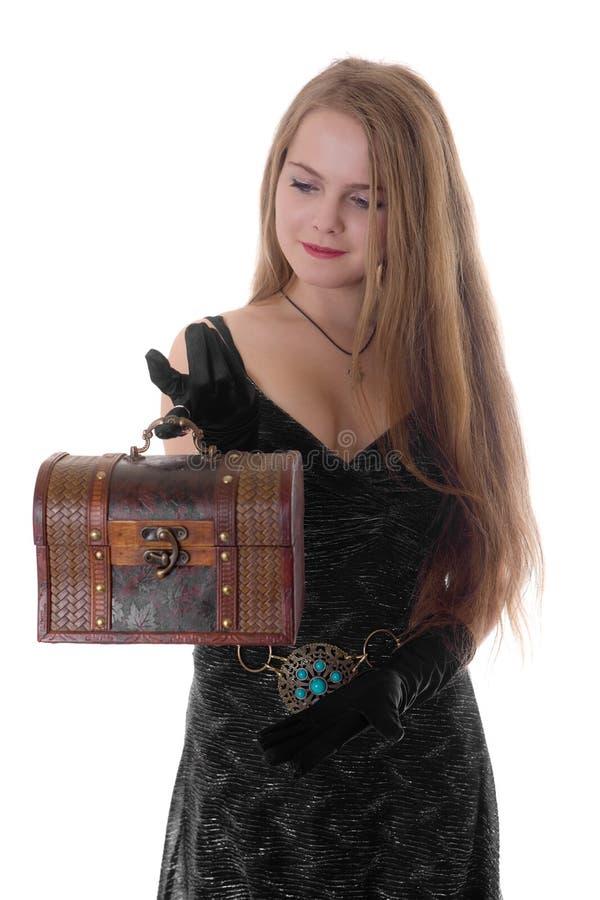 Девушка с хоботом стоковая фотография rf