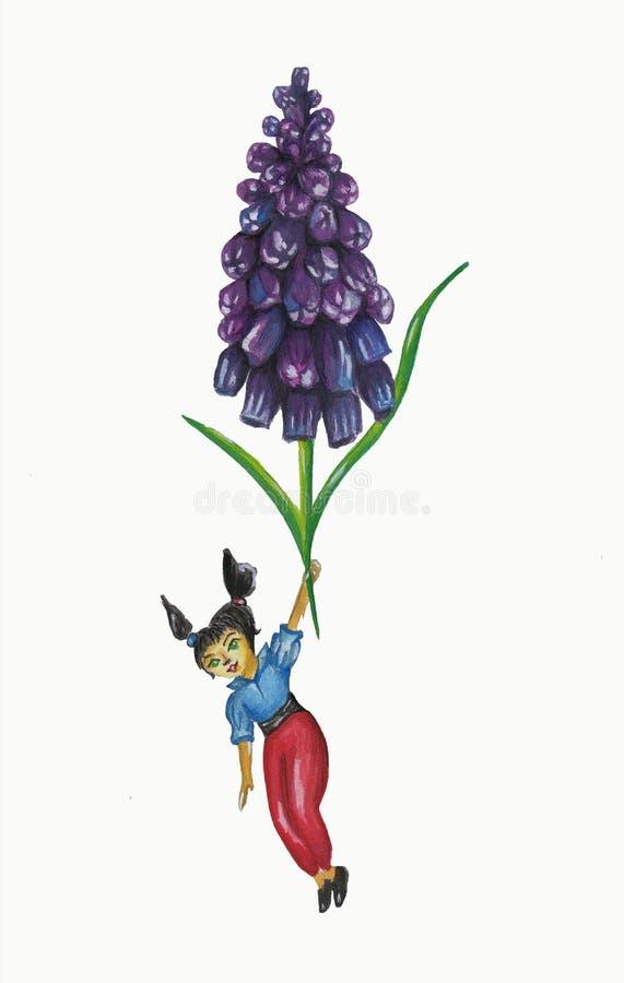 Девушка с цветком стоковая фотография rf