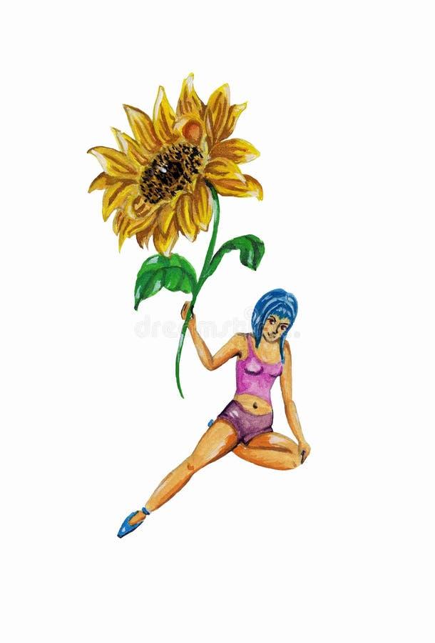 Девушка с цветком стоковые фото