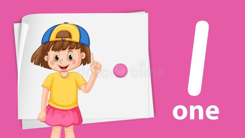 Девушка с шаблоном одно иллюстрация штока