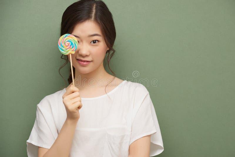 Девушка с Lollipop стоковое фото