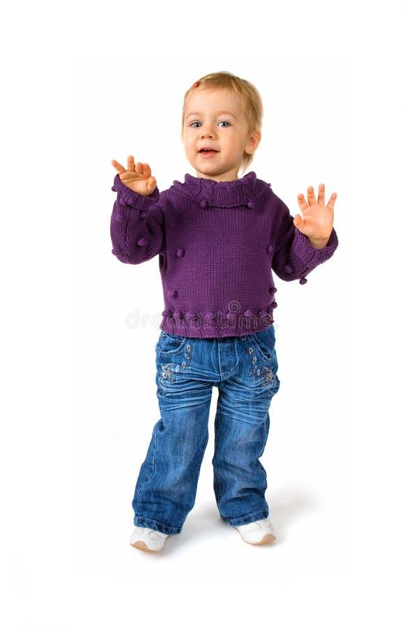 девушка танцы немногая стоковые изображения rf