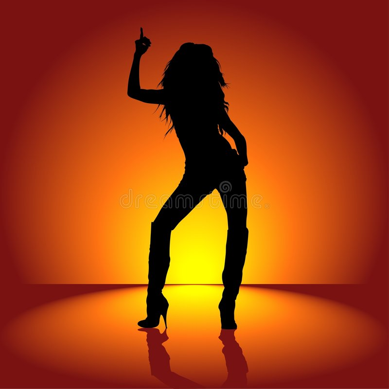 девушка танцы 01 иллюстрация штока