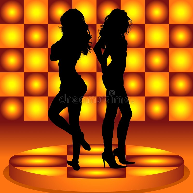 девушка танцы 04 иллюстрация вектора