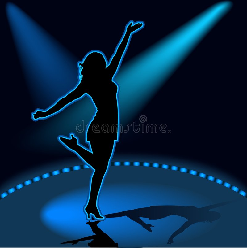 девушка танцы 06 иллюстрация штока