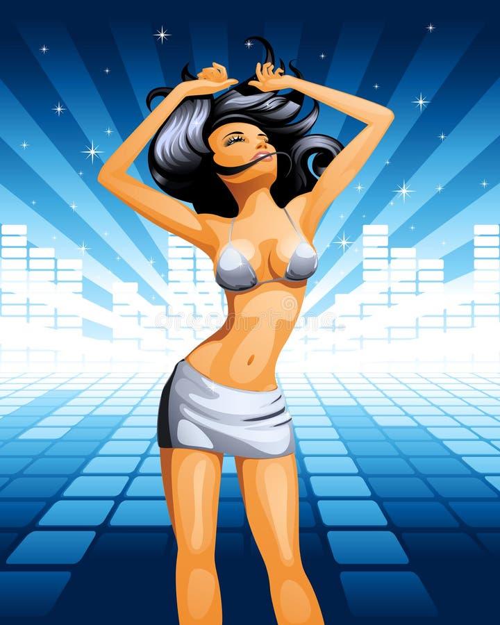 девушка танцы бесплатная иллюстрация